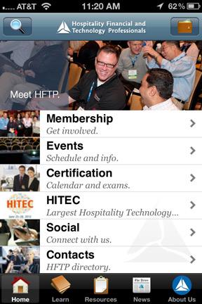 HFTP Mobile App Home